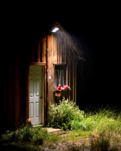 rainy night cabin colo